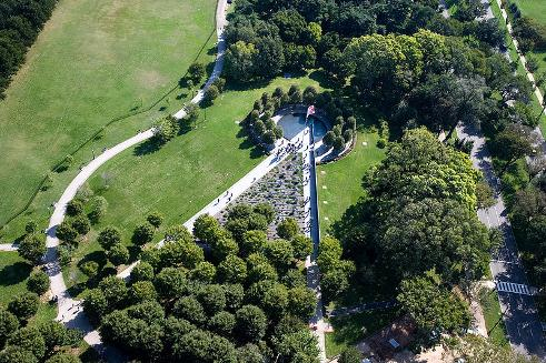 Aerial View-Korean War Memorial-Washignton, D.C.