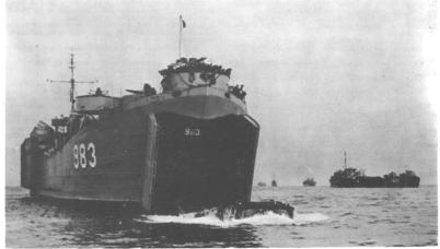 Landing Ship Tank (LST)-Probably at Inchon