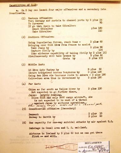 Page 2/11 JSC War Plan for 1949