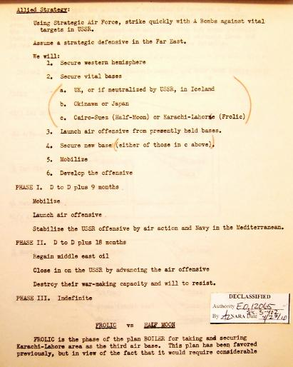 P 3/11 JCS War Plan for 1949