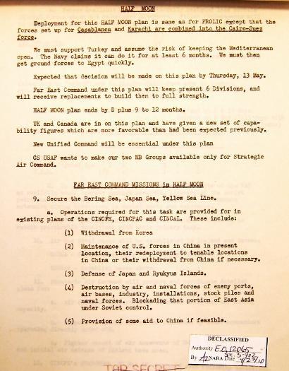 P 5/11 JCS War Plan for 1949