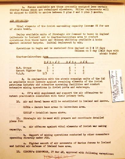 P 6/11 JCS War Plan nfor 1949