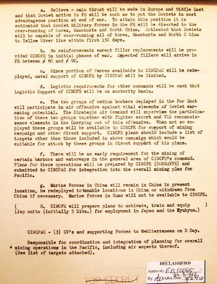 P 7/11 JCS War Plan for 1949