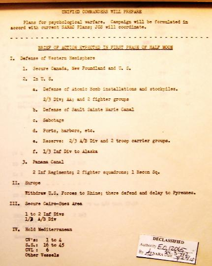 P 9/11 JCS War Plan for 1949