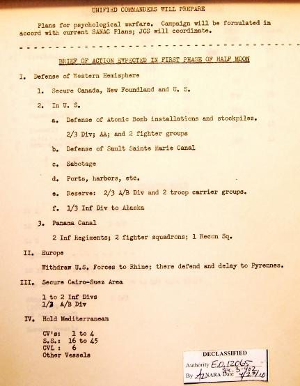 P 10/11 JCS War Plan for 1949