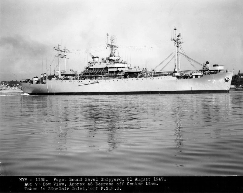 COMMAND SHIP USS MOUNT MCKINLEY